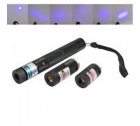 Трехцветная лазерная указка 1000 мВт + 5 насадок