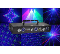 Трехцветный лучевой лазер c эффектами BTF-10RGB