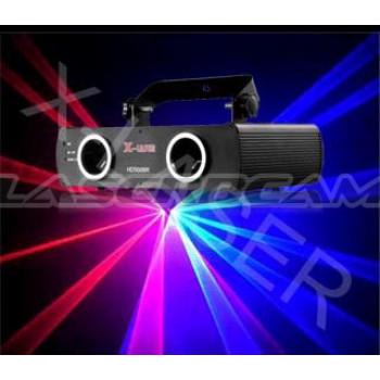 Красно-синий двухлучевой лазер X562