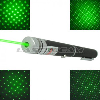 "Зеленая лазерная указка 50 мВт с насадкой ""звездное небо"""