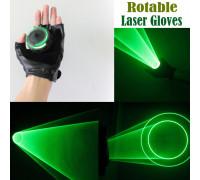 Зеленые лазерные перчатки Rotable Light