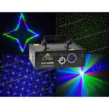 Трехцветный лучевой лазер c эффектами BTF-30RGB