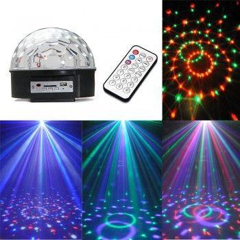 Светодиодный диско-шар LED Magic Ball 9 MP3