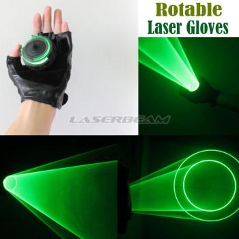 Зеленая лазерная перчатка Rotable Light